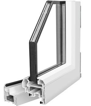 Coupe d'une fenêtre double vitrage