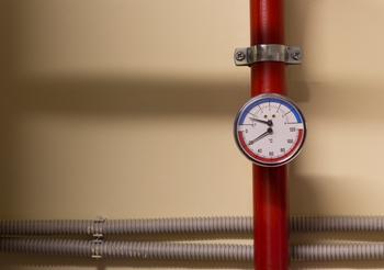 Cadran pour vérifier la pression d'une pompe à chaleur