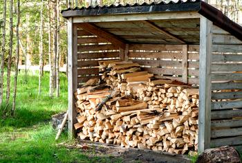 Stockage bûches de bois
