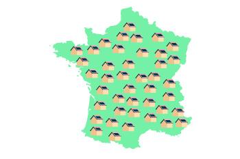 Carte de France panneaux solaires