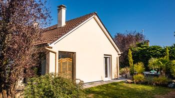 Maison après isolation thermique par l'extérieur